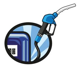 Icon / Clipart<br />Petrol Station Dispenser Pump & Nozzle (blue)