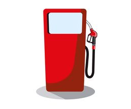 Icon / Clipart<br />Petrol Station Dispenser Pump & Nozzle (red)