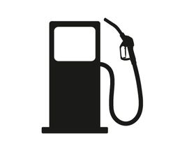 Icon<br />Petrol Station Dispenser Pump & Nozzle (black)